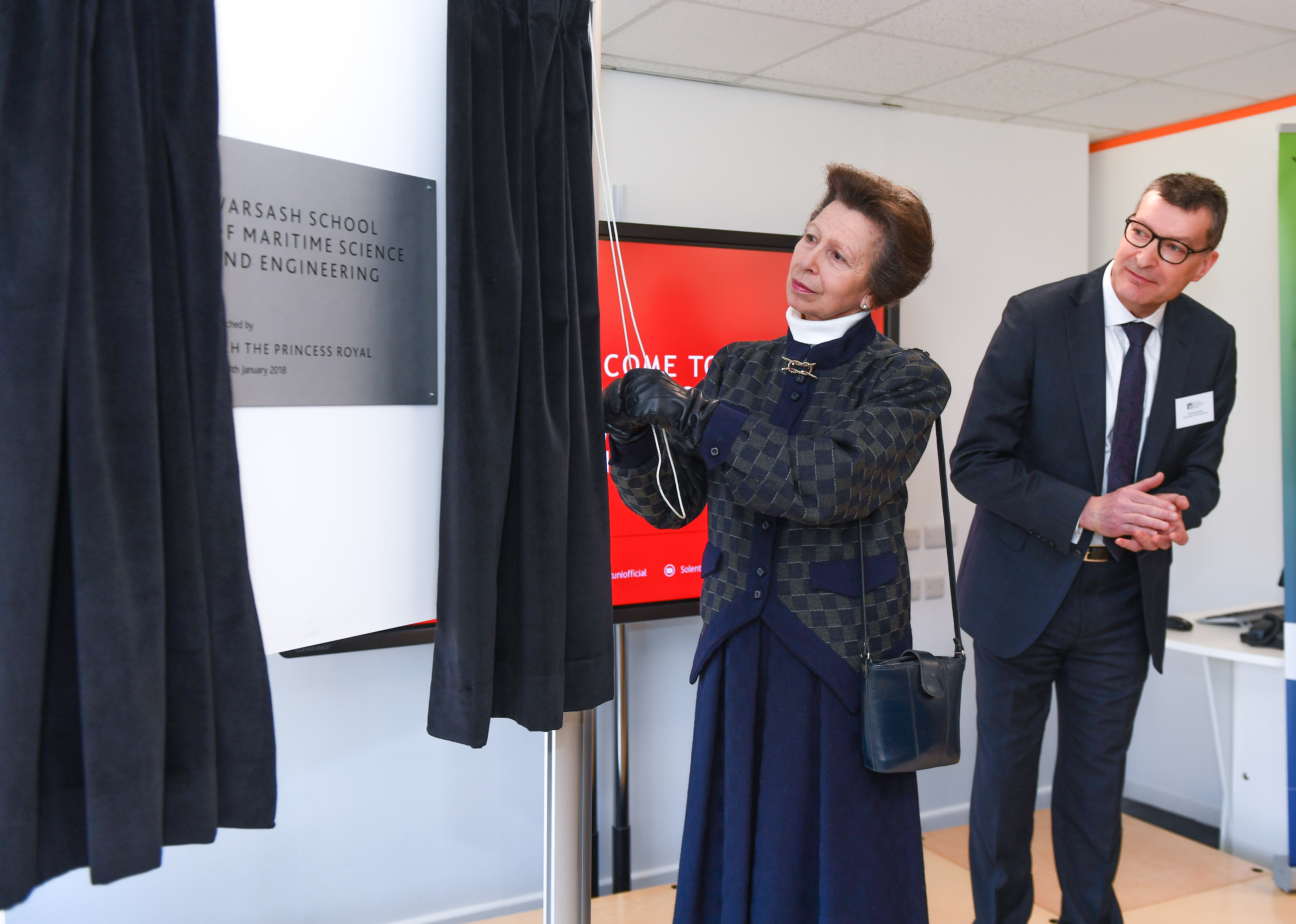 HRH The Princess Royal launches Southampton Solent University's Warsash Maritime Academy, St Mary's Campus