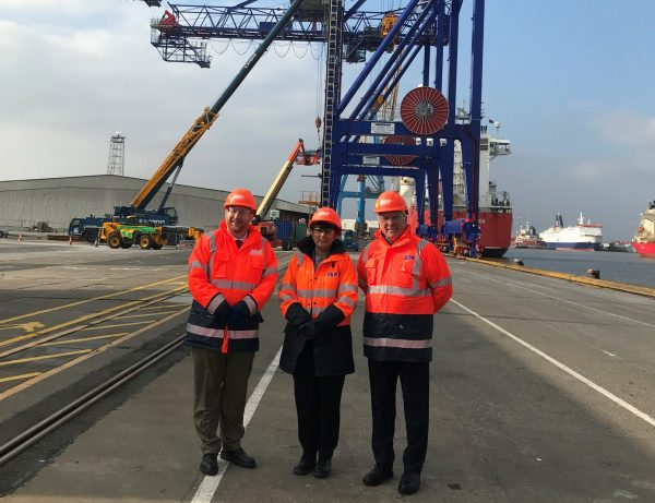 NEW MARITIME MINISTER MARKS FIRST PORT VISIT